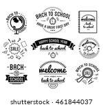 back to school typography... | Shutterstock .eps vector #461844037