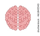 flat design human brain icon... | Shutterstock .eps vector #461845543