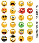 set of smiley faces   vector... | Shutterstock .eps vector #46185475