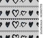 doodle seamless pattern with... | Shutterstock .eps vector #461865793