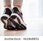 elegance women's legs standing...   Shutterstock . vector #461868853