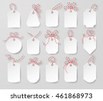 price tags and gift cards tied... | Shutterstock .eps vector #461868973