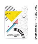 colorful trend neo memphis... | Shutterstock .eps vector #461872957