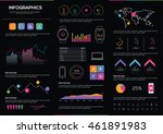 big set of infographics... | Shutterstock .eps vector #461891983