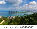 aerial view of sanya city and...   Shutterstock . vector #461896303