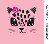 Cute Cat Face  T Shirt Design...