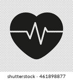 heart pulse beat    black... | Shutterstock .eps vector #461898877