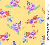 seamless pattern with the... | Shutterstock . vector #461903113
