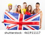 group of multiracial people... | Shutterstock . vector #461911117