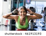 lady fitness in gym | Shutterstock . vector #461913193