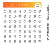 set of 56 fruit line icons... | Shutterstock .eps vector #461923063