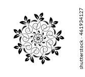 oriental vector pattern with... | Shutterstock . vector #461934127