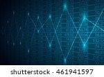 abstract business chart with... | Shutterstock .eps vector #461941597