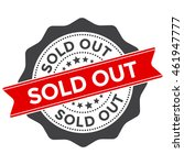 sold out vector badge with red... | Shutterstock .eps vector #461947777