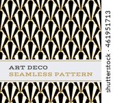 art deco seamless pattern with... | Shutterstock .eps vector #461951713