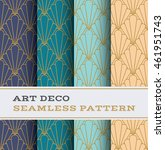 art deco seamless pattern with... | Shutterstock .eps vector #461951743