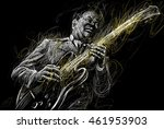 blues  and jazz musician with a ... | Shutterstock . vector #461953903
