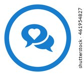 speech bubbles icon  flat...
