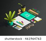 mockup scenes on education... | Shutterstock .eps vector #461964763