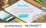 mockup scenes on education... | Shutterstock .eps vector #461964877