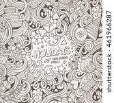 cartoon cute doodles hand drawn ... | Shutterstock .eps vector #461966287