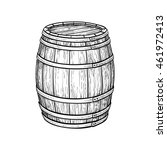 wine or beer barrel isolated on ... | Shutterstock .eps vector #461972413