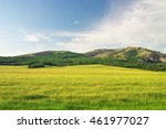 green meadow in mountain and... | Shutterstock . vector #461977027