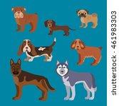 illustration of dog breed in... | Shutterstock . vector #461983303
