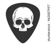 rock fest badge. guitar pick.... | Shutterstock .eps vector #462007957