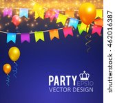 holiday  party and presentation ... | Shutterstock .eps vector #462016387