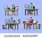 vector detailed character... | Shutterstock .eps vector #462016987