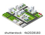 top view of the city and the... | Shutterstock .eps vector #462028183