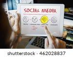 internet multimedia technology... | Shutterstock . vector #462028837
