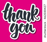 thank you hand drawn vector... | Shutterstock .eps vector #462030427