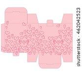 gift wedding favor die box... | Shutterstock .eps vector #462042523