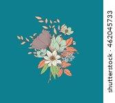 vector flower bouquet ... | Shutterstock .eps vector #462045733