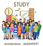 study learning lesson education ... | Shutterstock . vector #462049297