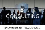 consulting advisory assistance... | Shutterstock . vector #462064213