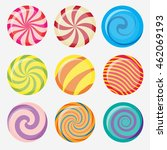 sweet candy  round caramel... | Shutterstock .eps vector #462069193