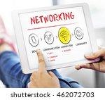 internet multimedia technology... | Shutterstock . vector #462072703