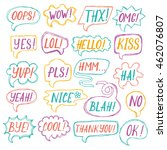 vector set of speech bubbles ... | Shutterstock .eps vector #462076807