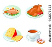 vector food icon in cartoon... | Shutterstock .eps vector #462079333