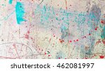 colorful abstract painted... | Shutterstock . vector #462081997
