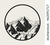 illustration landscape mountains | Shutterstock .eps vector #462091717
