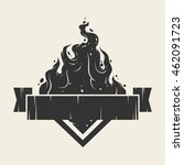 ribbon with fire   Shutterstock .eps vector #462091723