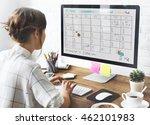 appointment agenda calendar... | Shutterstock . vector #462101983