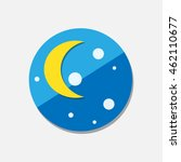 moon icon | Shutterstock .eps vector #462110677