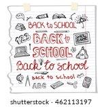 back to school supplies.doodles ... | Shutterstock . vector #462113197