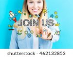 join us concept with young... | Shutterstock . vector #462132853