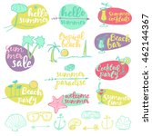 set of summer signs and banners.... | Shutterstock .eps vector #462144367